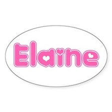 """Elaine"" Oval Decal"