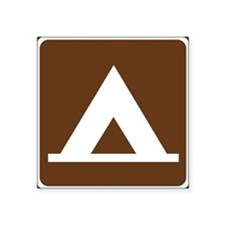 Camping Tent Sign Sticker
