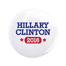 """Hillary Clinton 2016 President 3.5"""" Button"""