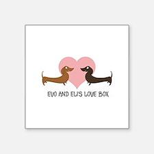 """Evo and Eli's Love Box Square Sticker 3"""" x 3"""""""