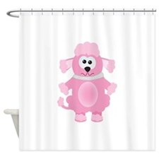pink poodle.png Shower Curtain