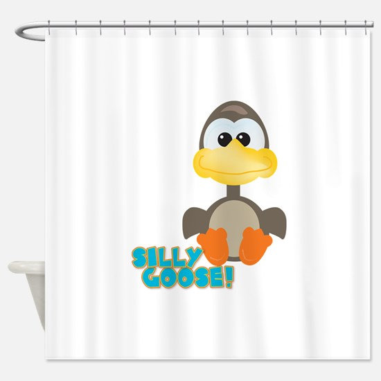 silly goose.png Shower Curtain