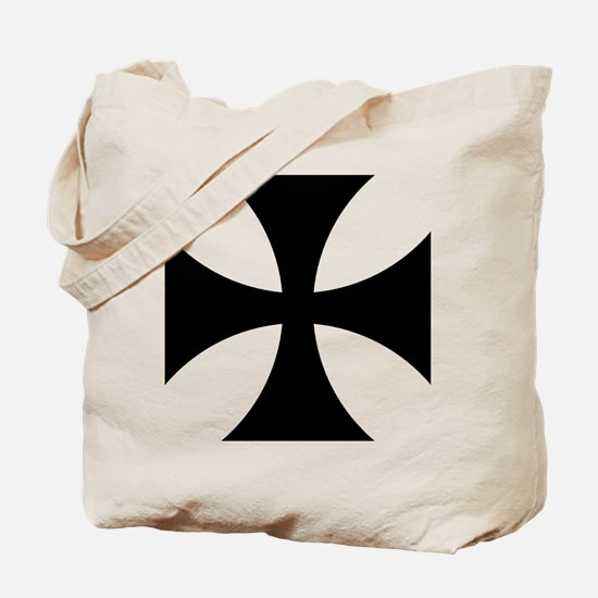 Black iron cross Tote Bag