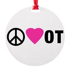 PEACE LOVE OT Ornament