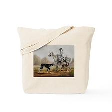 Arabian Bedouin Hunting with Two Salukis Tote Bag