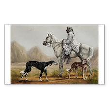 Arabian Bedouin Hunting with Two Salukis Decal