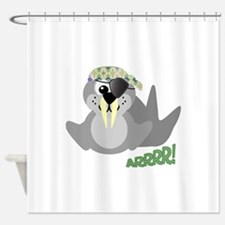 pirate walrus.png Shower Curtain