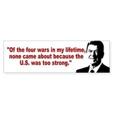Ronald Reagan Quotes Bumper Sticker