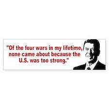 Ronald Reagan Quotes Car Sticker