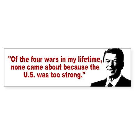Ronald Reagan Quotes Sticker (Bumper)