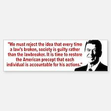 Ronald Reagan Quotes Bumper Bumper Sticker