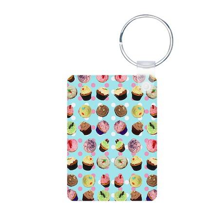Polka Dot Cupcakes Keychains