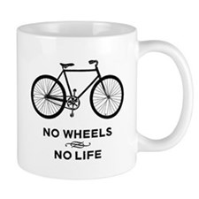 No Wheels No Life Cycling Mug