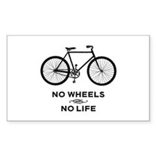 No Wheels No Life Cycling Decal