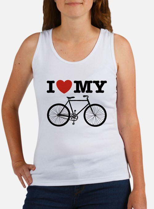 I Love My Bicycle Women's Tank Top