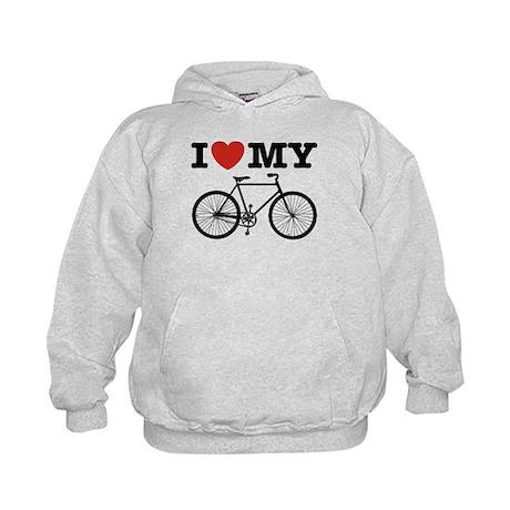 I Love My Bicycle Kids Hoodie