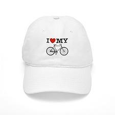 I Love My Bicycle Baseball Cap