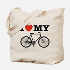 I Love My Bicycle Tote Bag