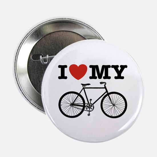 """I Love My Bicycle 2.25"""" Button"""