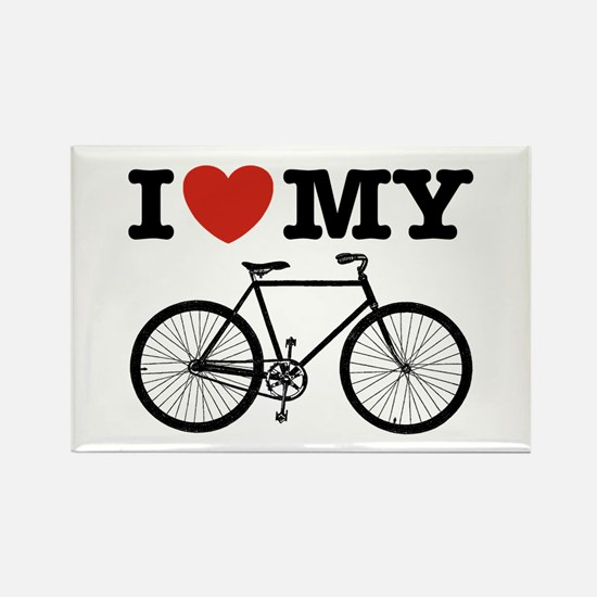 I Love My Bicycle Rectangle Magnet