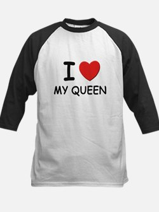 I love queens Kids Baseball Jersey