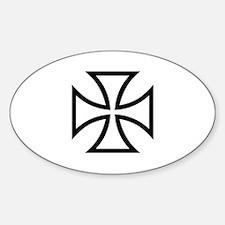 Black iron cross Sticker (Oval)