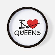 I love queens Wall Clock