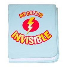 my cape is invisible baby blanket