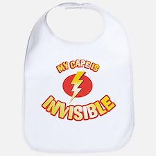 my cape is invisible Bib
