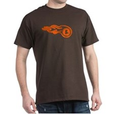 "Brown regular fit T-Shirt with ""patch logo&qu"