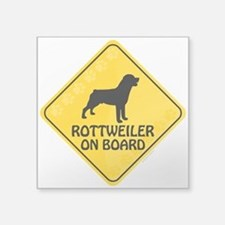 "Rottweiler On Board Square Sticker 3"" x 3"""