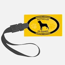 Rottweiler On Board 2 Luggage Tag