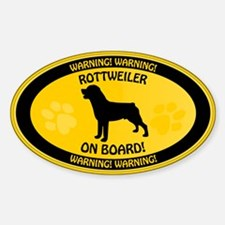 Rottweiler On Board 2 Decal