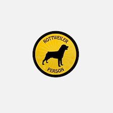 Rottweiler Person Mini Button