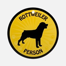 Rottweiler Person Ornament (Round)
