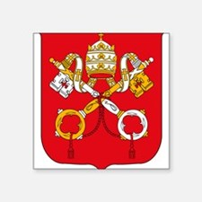 Vatican Coat of Arms Rectangle Sticker