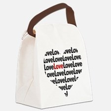Cute Red black Canvas Lunch Bag