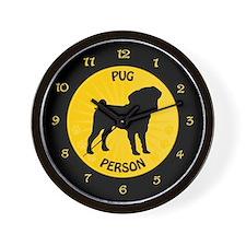 Pug Person Wall Clock