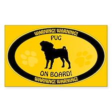 Pug On Board 2 Decal