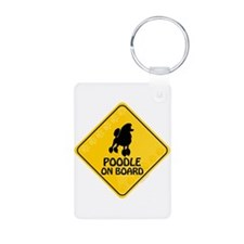 Poodle On Board Keychains