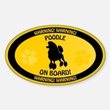 Poodle On Board 2 Decal