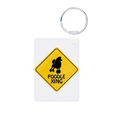 Poodle Xing Keychains