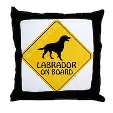 Labrador On Board Throw Pillow