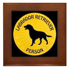 Labrador Person Framed Tile