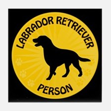 Labrador Person Tile Coaster