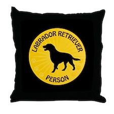 Labrador Person Throw Pillow