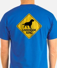 Labrador Xing (2-sided) T-Shirt