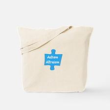 Support Autism Altruism Blue Puzzle Tote Bag