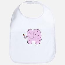 Strawberry Elephant Bib