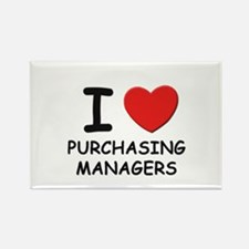 I love purchasing managers Rectangle Magnet